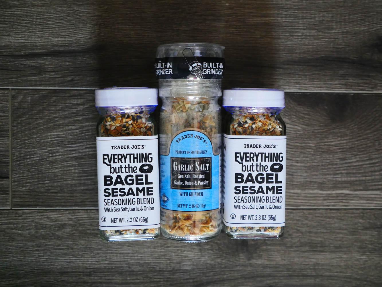 Trader Joe's Garlic Salt + Everything But The Bagel Seasoning Combo