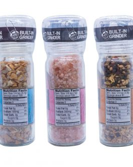 Trader Joe's Best Seasoning Grinder Combo | Everyday Seasoning, Garlic Salt, Himalayan Pink Salt Crystals (3-pack)